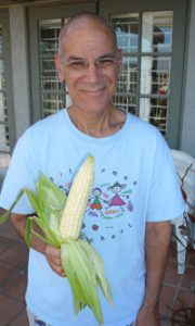 First Harvest from the Silverman Preschool garden: Corn for the Rabbi